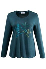 Shirt mit Vogelmotiven, Stretch