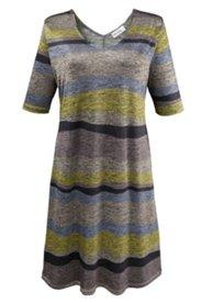 Kleid aus gemustertem Melange-Jersey