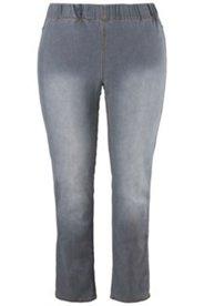 Jegginsy stylizowane na dżins, gumka w pasie