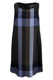 Lniana sukienka w kratkę