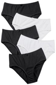 5 Pack of Panties - Black & White
