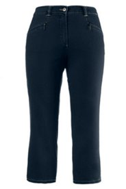 Mony Denim Stretch Capri Pants