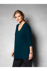 Silky Stretch Knit 3/4 Sleeve Top