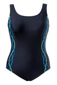 Ocean Tones Piped Swimsuit