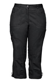 Seamed Cargo Pocket Crop Pants