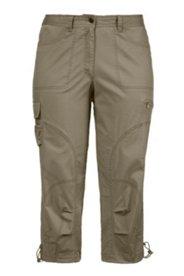 Seamed Cargo Pocket Crop Pants