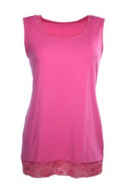 Lace Accent Stretch Tank