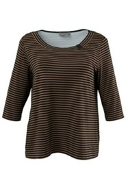 Boatneck Striped 3/4 Sleeve Top