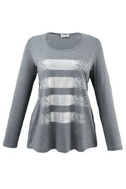 Stripe Printed Sequin Knit Top