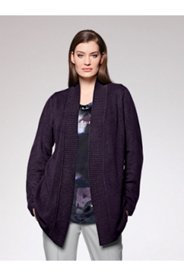 Open Front Cashmere Cardigan Sweater