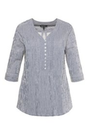 Striped Pintuck Crinkle Blouse