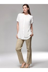 Cotton Silk Blend Pants
