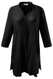 Crinkle Cotton Tunic Blouse