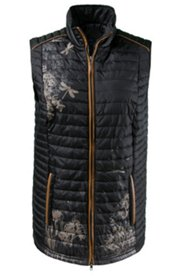 Accent Dragonfly Print Quilted Vest
