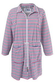 Striped Terry Bathrobe