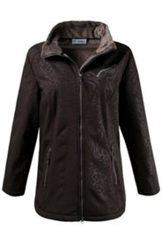 Tonal Animal Texture Softshell Jacket