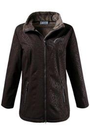 Tonal Animal Texture Softshell Jacket