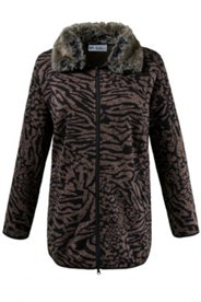Animal Print Fleece Jacket