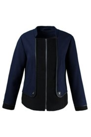 Two Fabric Piped Jacket
