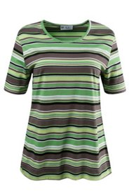 Shades of Green Striped Tee