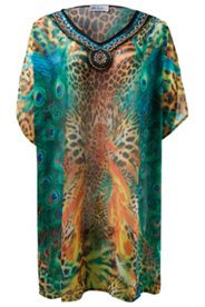 Peacock Animal Print Caftan