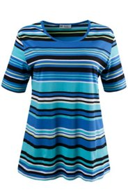 Cool Tone Blue Striped Tee