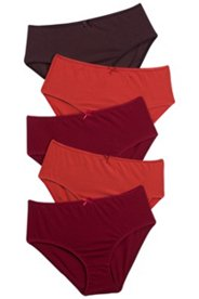 5 Pack of Panties - Warm Tones