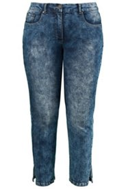 Stone Washed Vented Jeans