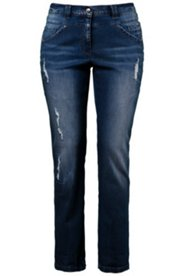 Sandblasted Distressed Jeans