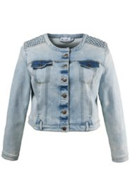 Washed Denim Crop Jacket