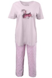 Squirrel Print Pajama Set