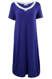 Lace Trim S/S Nightgown