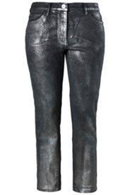 Metallic Coated Skinny Jeans
