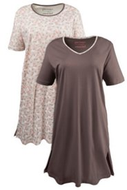 Sleep Tee - 2 Pack - Leaves and Taupe