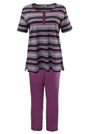 Striped Henley Pajama Set