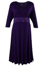 Empire Waist Lace Trim Nightgown