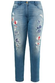 Color Lined Destroy Look Jeans