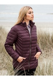 Zip Front Quilted Jacket