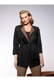 Contrast Lapel Linen Blend Jacket