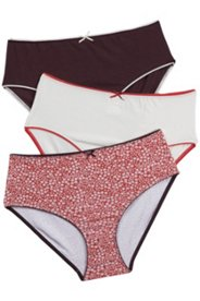 3 Pack of Panties - Contrast Trim