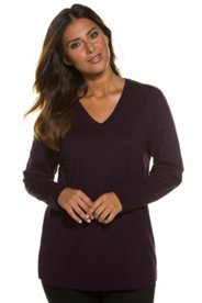 Viscose Blend V-Neck Sweater