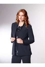 Techno Seamed Snap Blazer