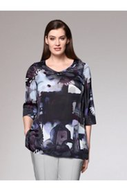 Printed Modern Art Silk Mix Blouse