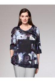 Printed Modern Art Silk Mix Blouse