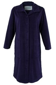 Diamond Stitched Plush Bathrobe