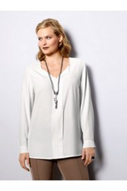 Center Seam Notch Neck Blouse