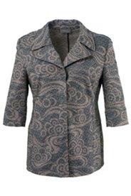 Swirl Design Jacquard Jacket