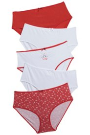 5 Pack of Panties - Love Variety