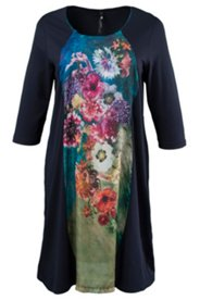 Floral Inset Print Nightgown