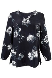 Black & White Floral Print Blouse